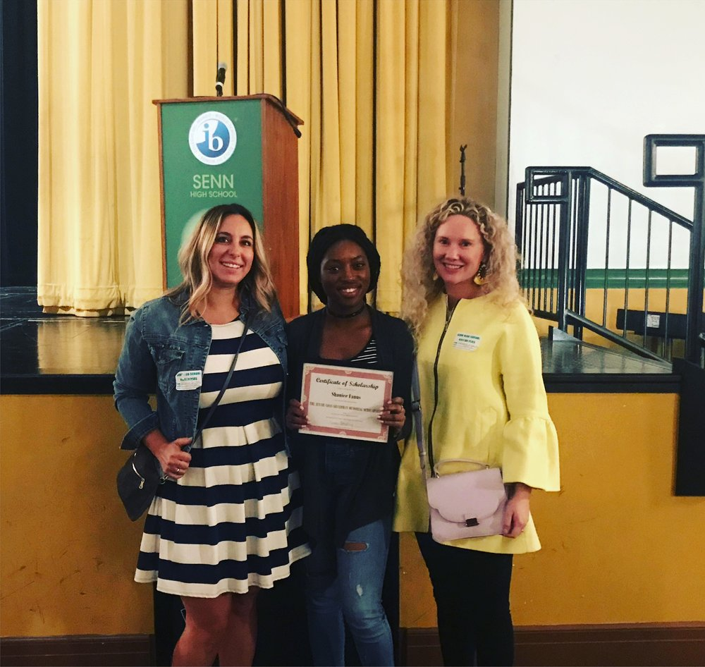 Nicholas SENN High School Recipient: Shanice Fanus -