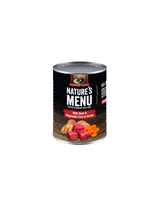 Mossy Oak Natures Menu Super Premium Dog Food - Canned Beef and Veg Cuts.png