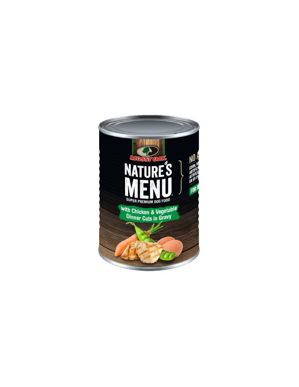 Mossy Oak Natures Menu Super Premium Dog Food - Canned Chicken and Veg Dinner Cuts.png