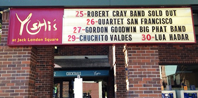 The legendary Yoshi's Jazz Club features Lua Hadar with Twist, right after Chuchito Valdes!
