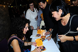 Signing CDs after the concert at the Bangkok 10th International Festival of Dance and Music.