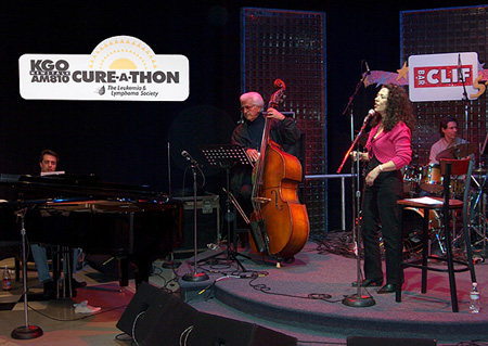 Performing at KGO Radio Cure-a-Thon, San Francisco, with many famous local radio personalities.