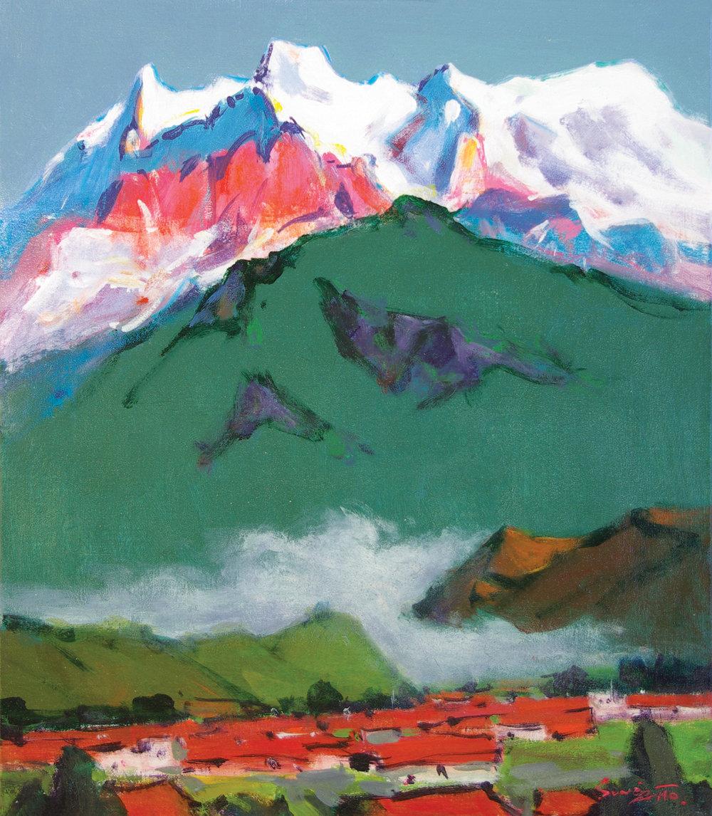 Annapurna Ⅳ,Ⅱ .JPG