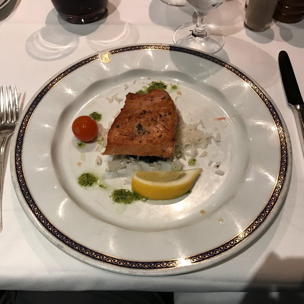Grilled Salmon with Ginger-Cilantro Pesto