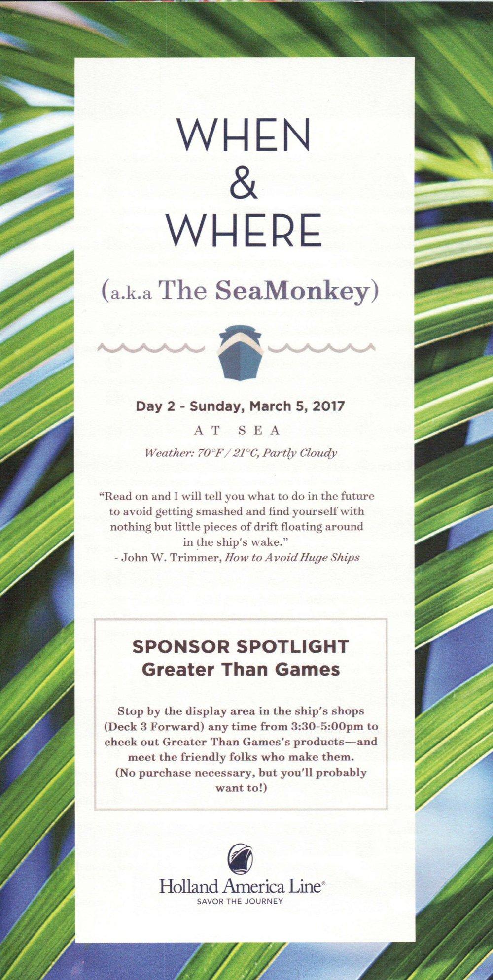 SeaMonkey Day 2
