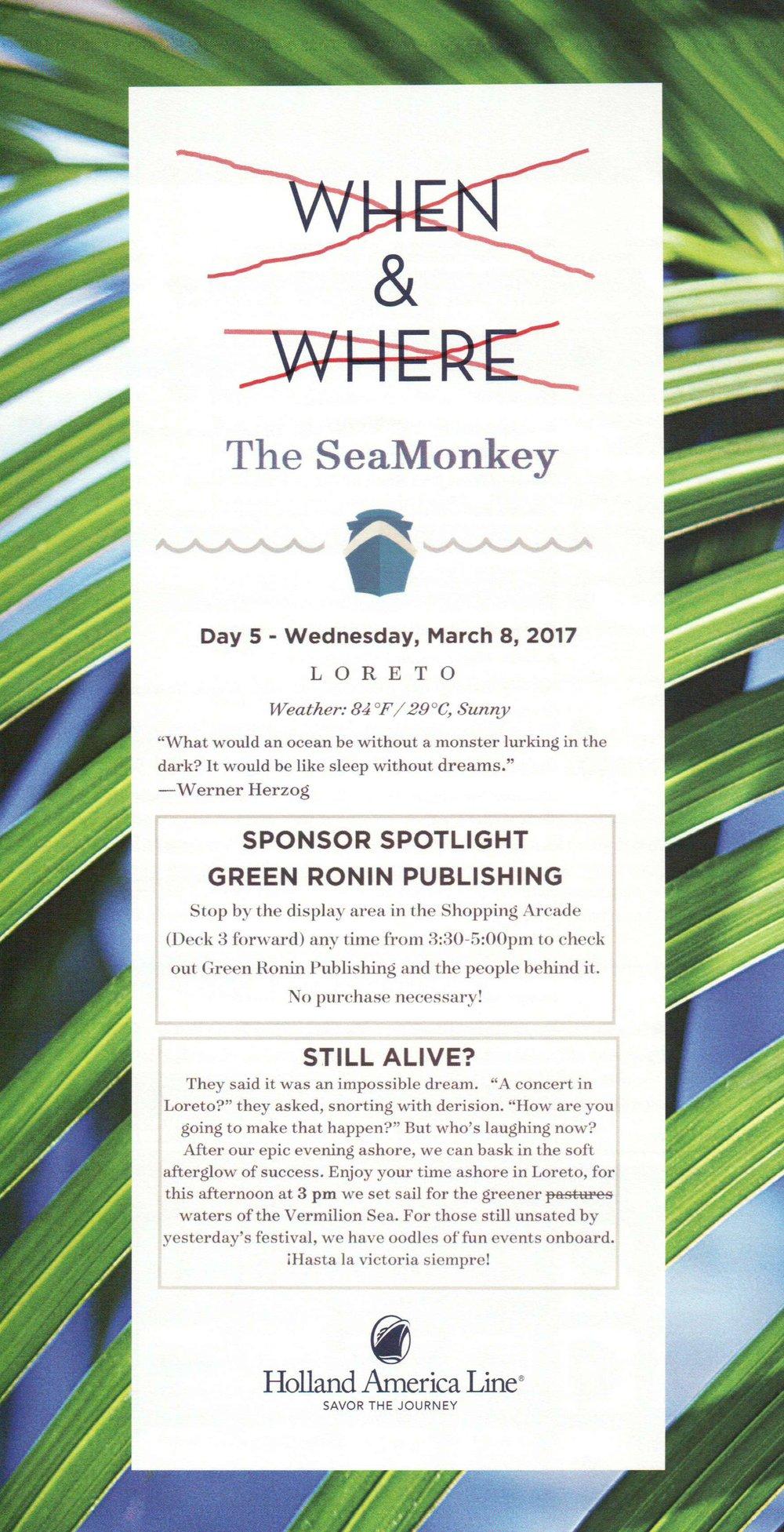 SeaMonkey Day 5
