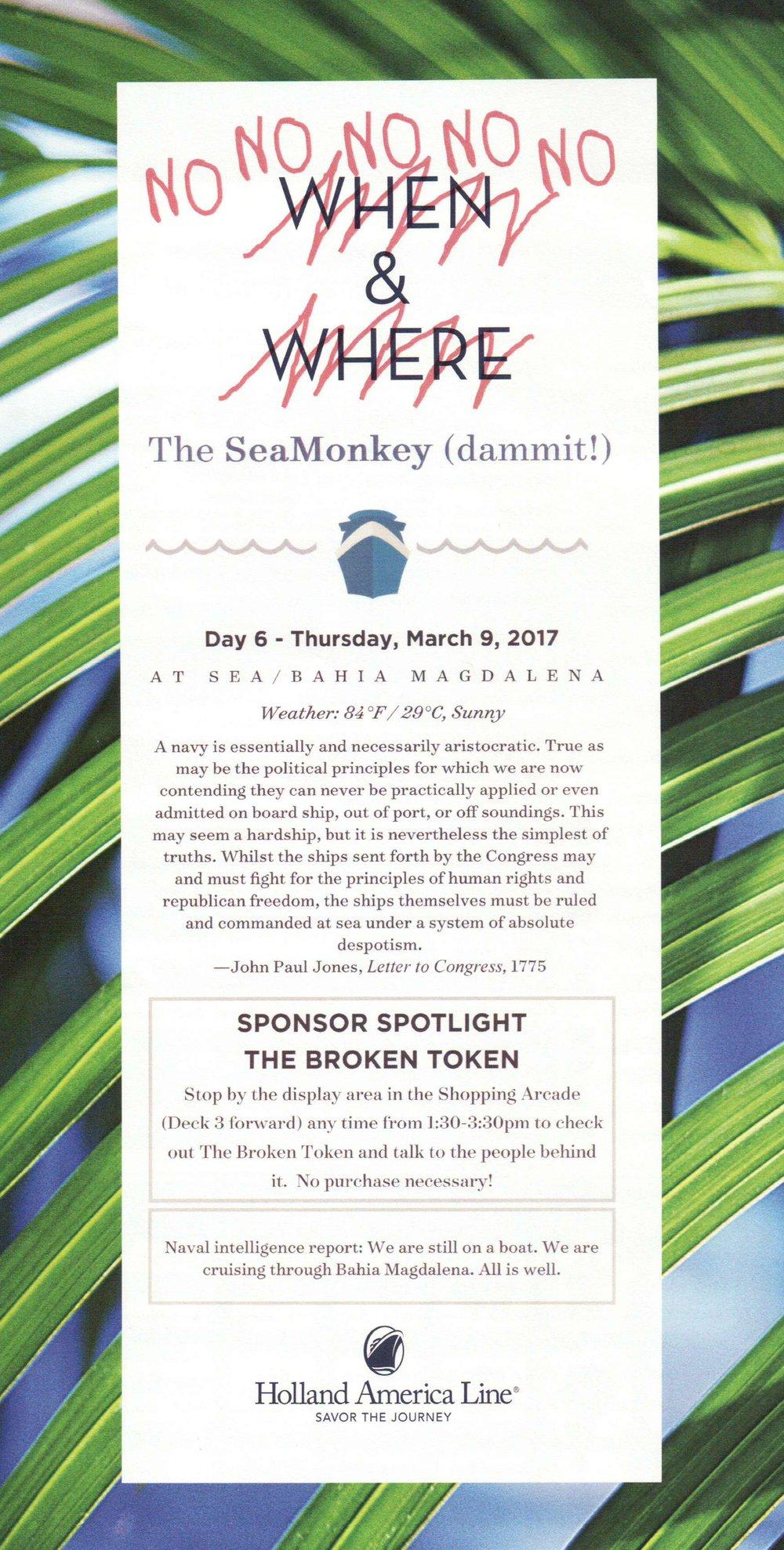 SeaMonkey Day 6