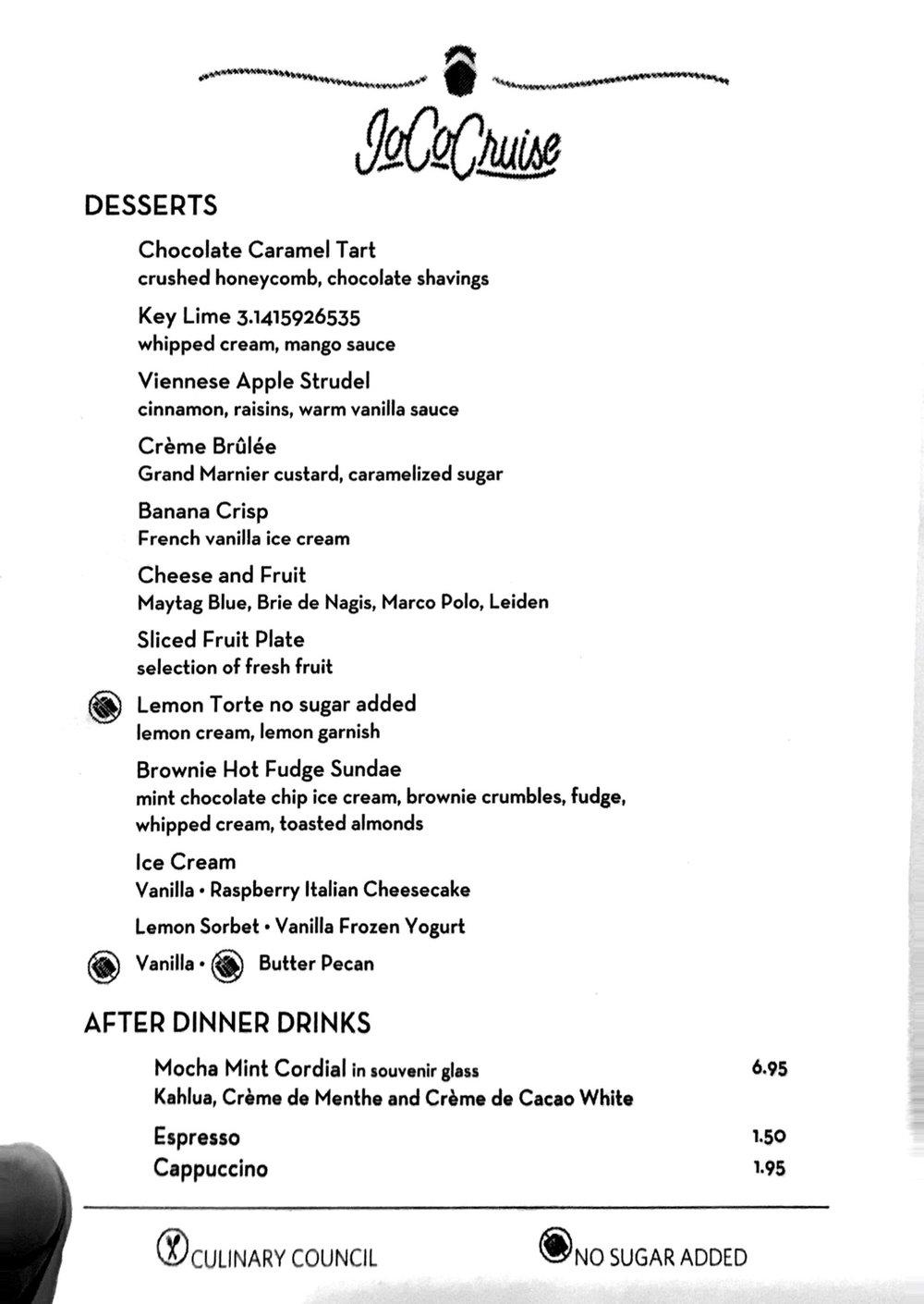 Dessert - Day 1