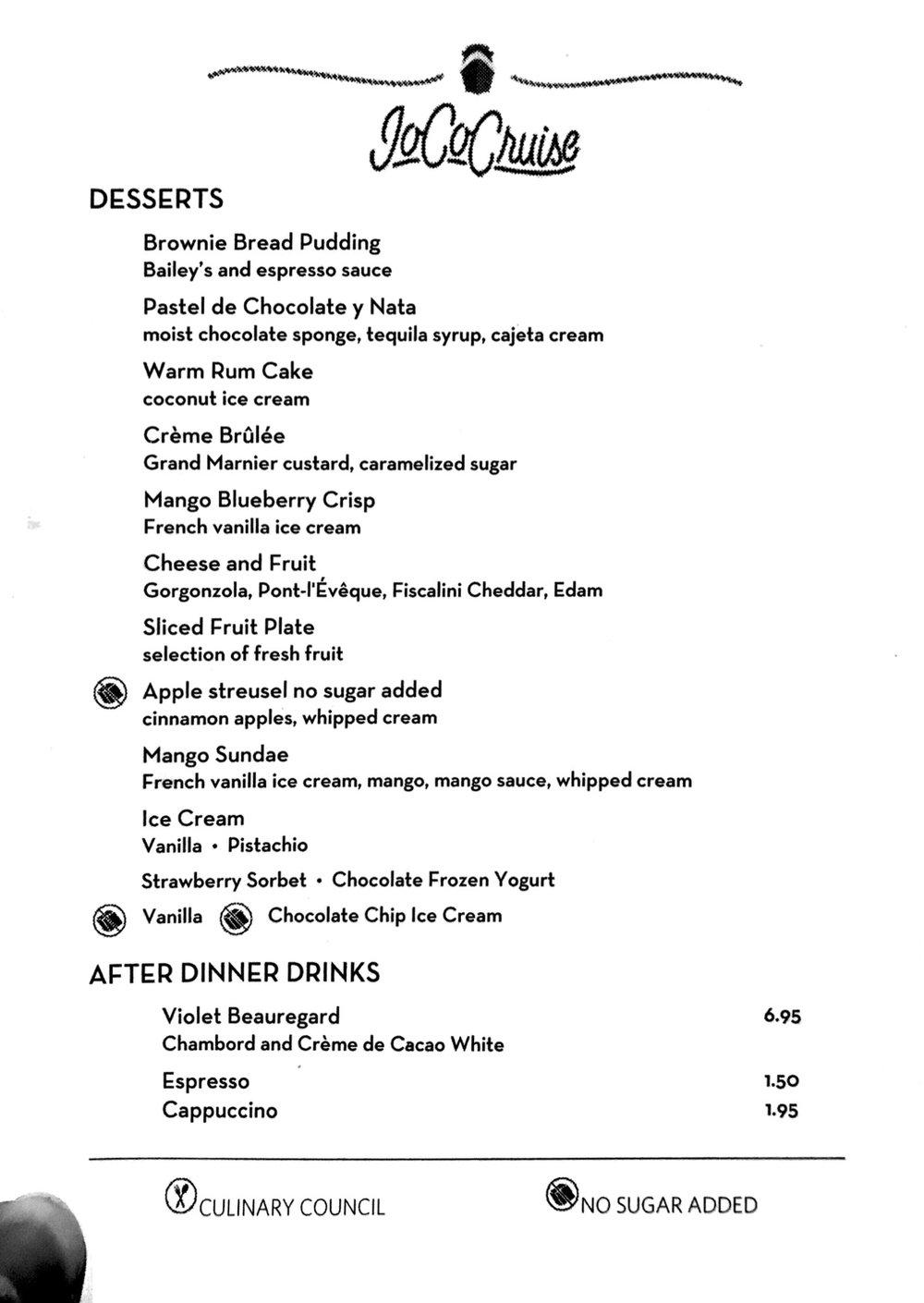 Dessert - Day 2