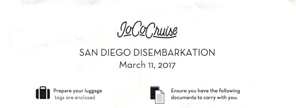 San Diego Disembarkation