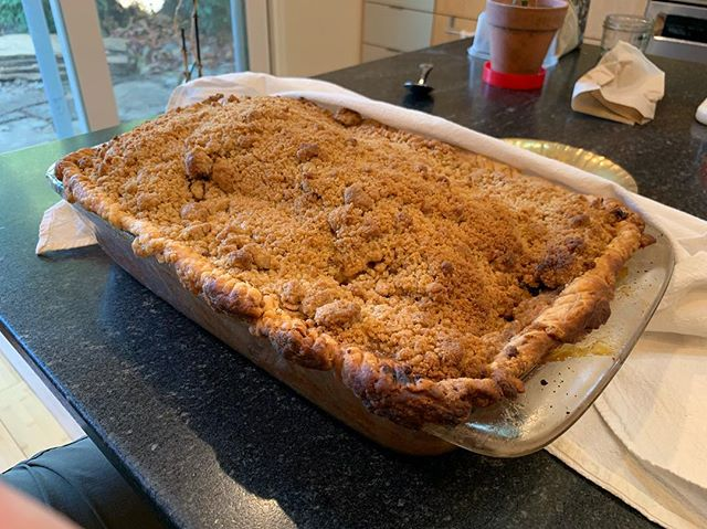 Apple pie, after some time in the oven. Did I make enough?