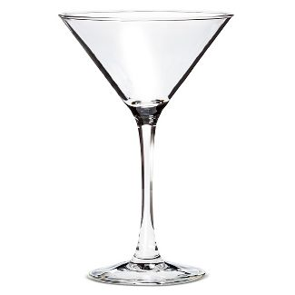 Martini. - The iconic V-shaped with long stem glass is typically used for a variety of cocktails and should be a staple in your home! This type of glass is great for a Lemon Drop, Cosmopolitan, or just a fantastic Extra Dry Martini.