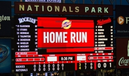 """ Home Run - Nationals Park "" © Gareth Milner,  Creative Commons license"