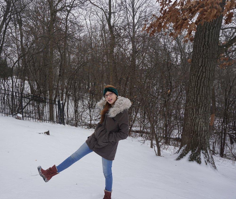 Headband  |  Coat  |  Jeans  |  Boots  (similar)
