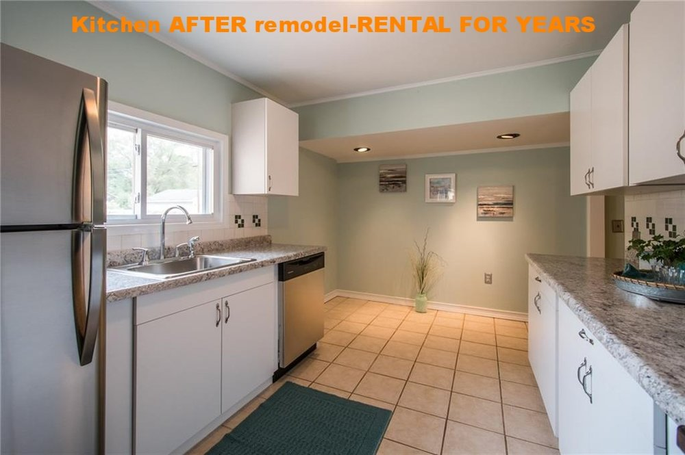 Kitchen AFTER remodel-RENTAL FOR YEARS