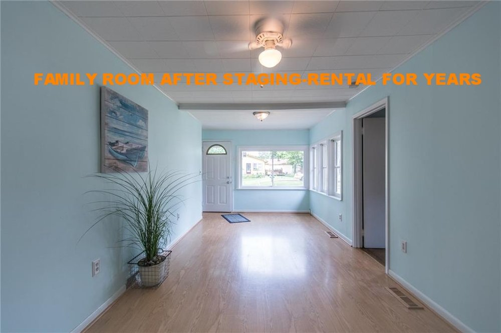 FAMILY ROOM AFTER STAGING-RENTAL FOR YEARS