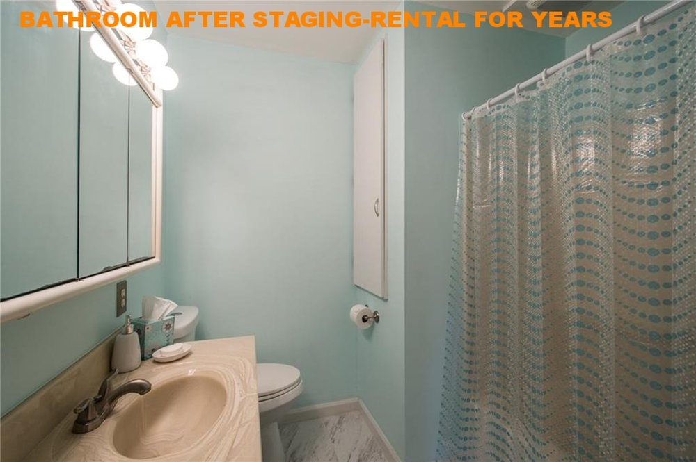 BATHROOM AFTER STAGING-RENTAL FOR YEARS