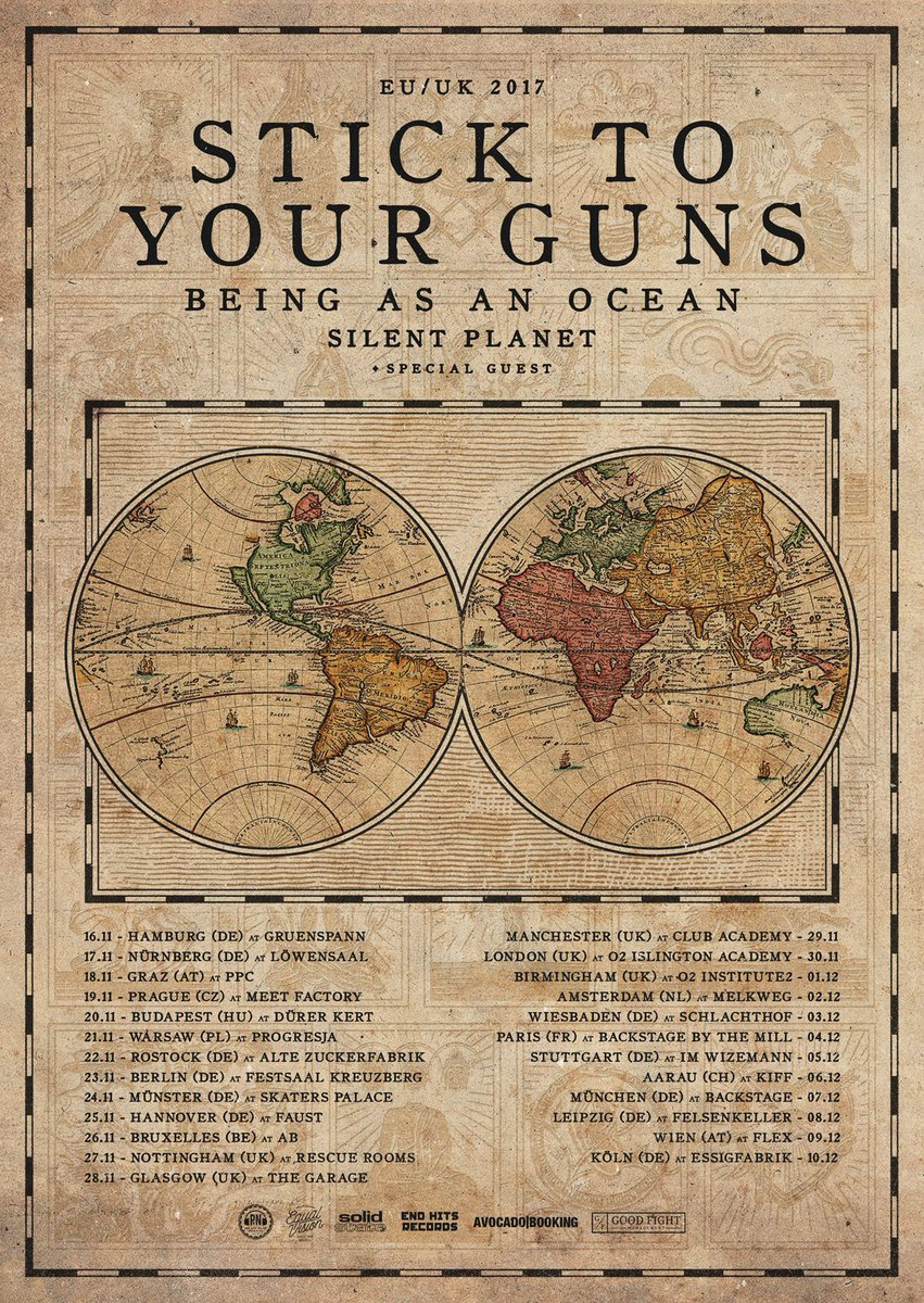 Stick To Your Guns' fall tour poster