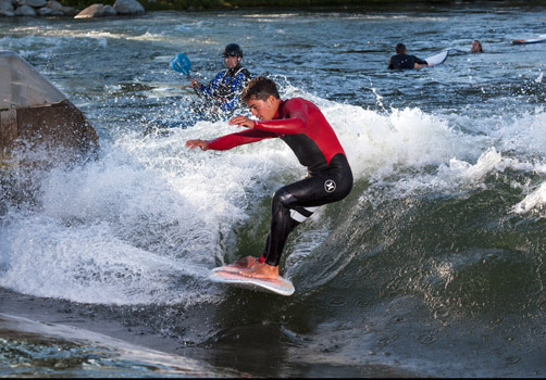 Surfers from around the world are visiting the Boise Whitewater Park.