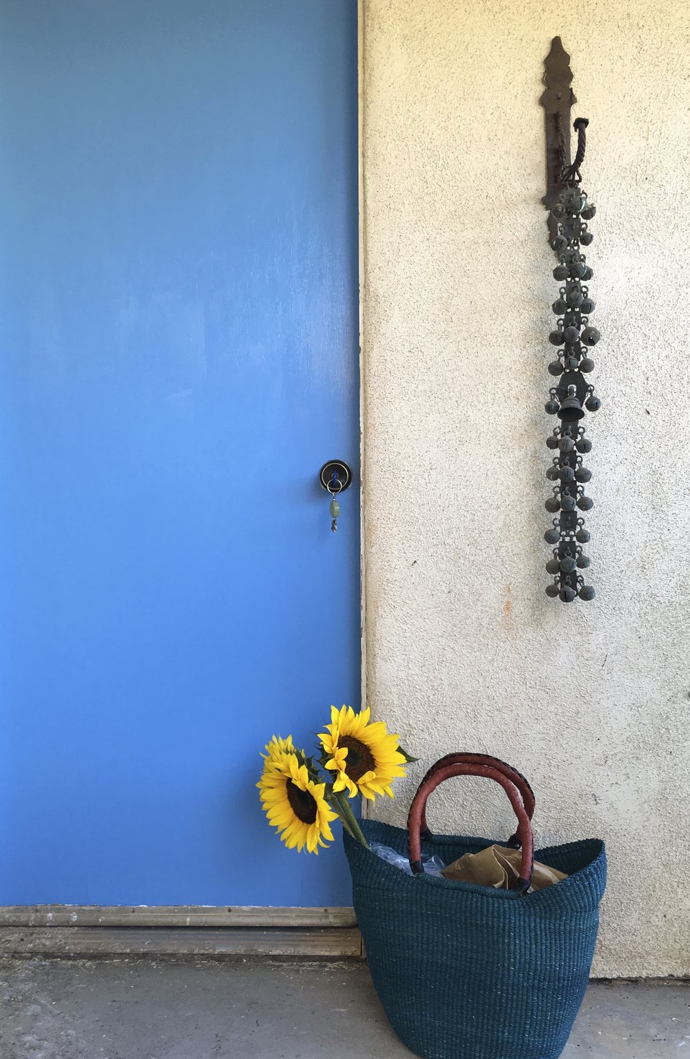 Day 1:  Excitement! I have the key to the Beatrice Wood Studio for the next month.  Wow!  Entering the studio on my first day bringing flowers to show gratitude for this opportunity.   -