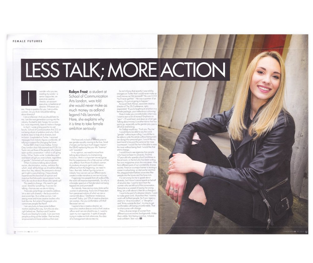 ARTICLE:  Robyn's first article for Campaign, published online and in the Cannes global issue. Thanks, Nicky Kemp – the real MVP.