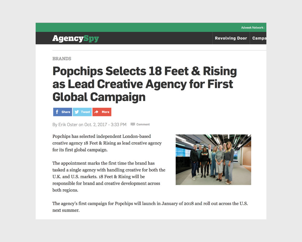 PRESS:  We won a global account two weeks in to our first job.