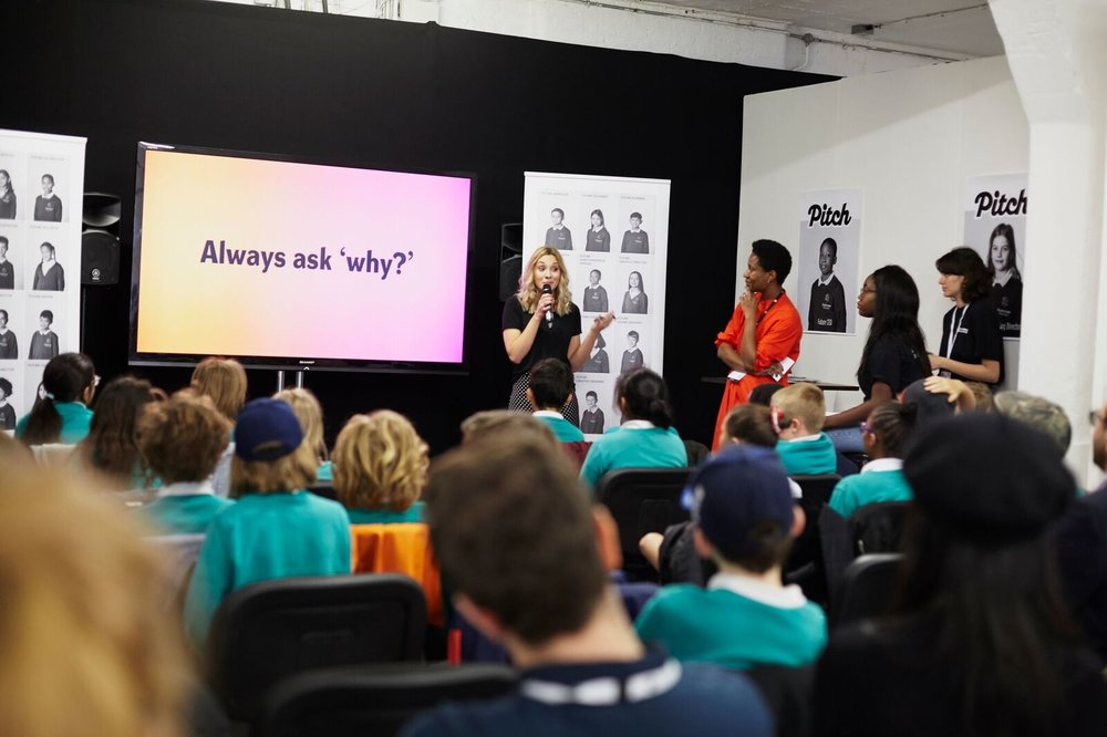 TALK:  D&AD Festival 2018!Robyn had the chance to speak to year 5 students as part of the Pitch Futures Creative Class.Watch the video  here.