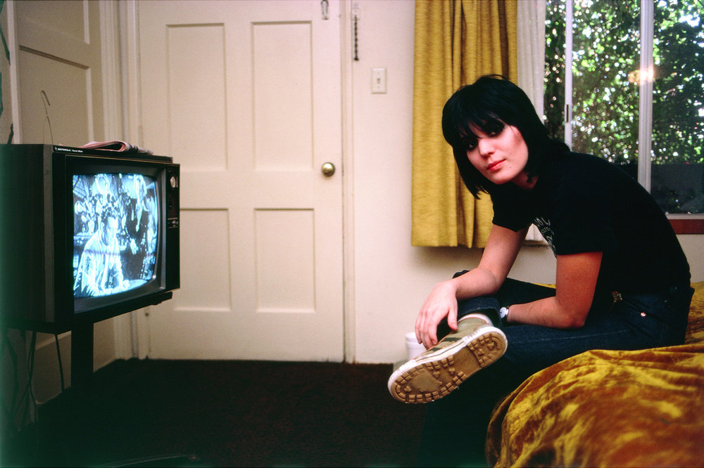 Joan Jett: One Of My Favorite Photos, 1978 - I took this photo in Joan Jett's dumpy motel room at the iconic Tropicana Motel in 1978. We were watching TV and there was some sort of magic in the room.