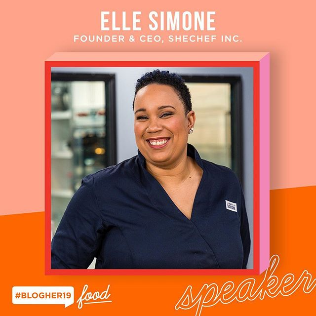 I can't wait to take the stage at #BlogHer19 Food May 8th! Join me in Brooklyn this spring and save $50 on your ticket with the  promotional code: ELLE The link is in my bio....See you there! #BlogHer19 #SheChef