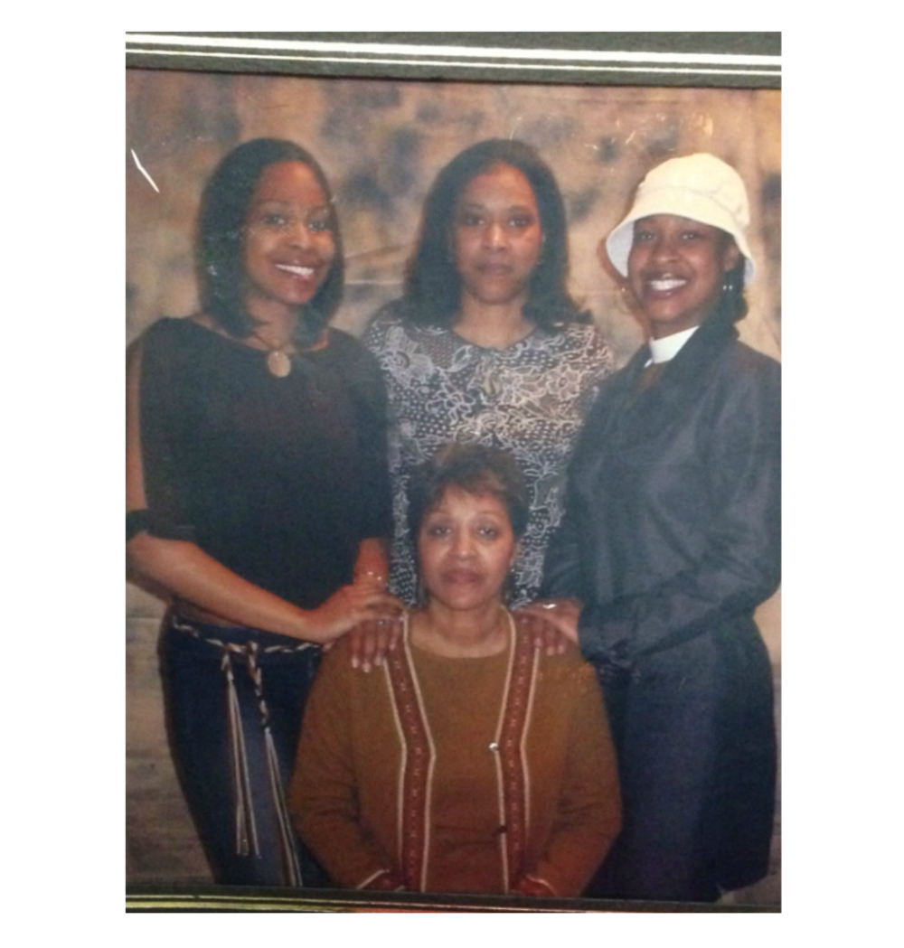 From left to right: me, my mom, my sister and my beautiful grandma in the middle