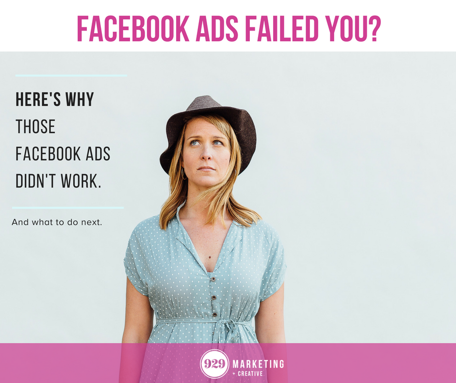 why facebook ads didn't work