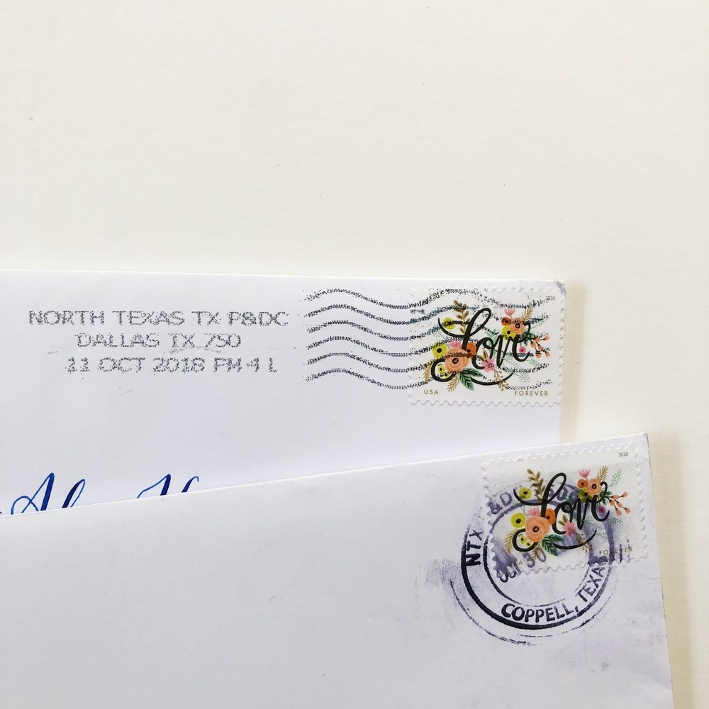 Top: Postage Cancellation by Machine, Bottom: Hand Cancellation