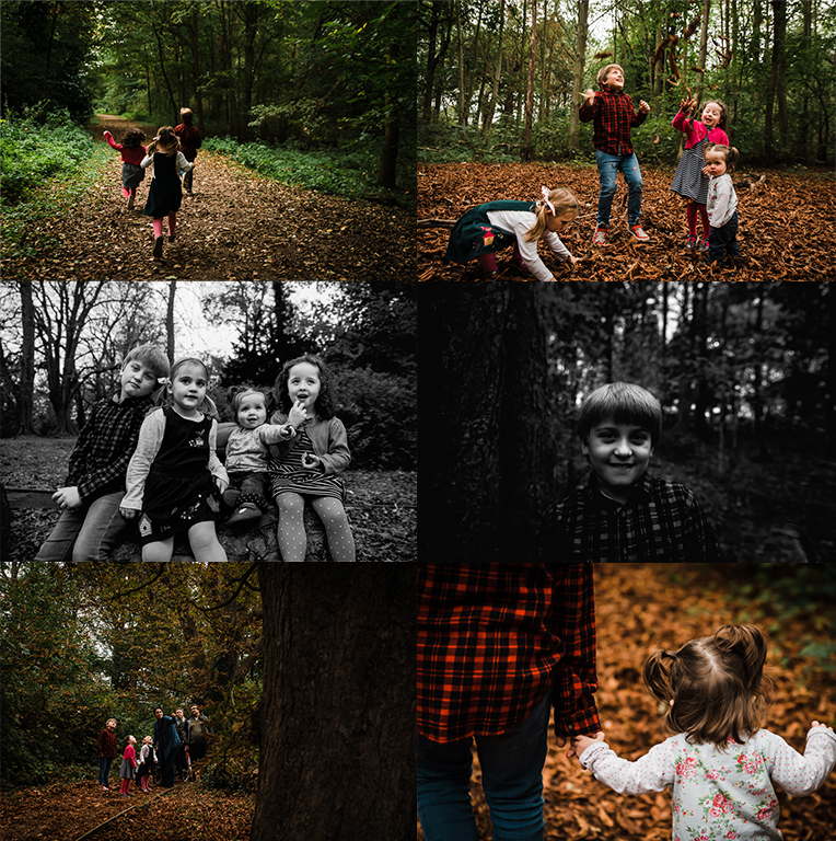 Autumn mini collage - natural family and children photography - Photographer Huntingdon Cambridge and Peterborough