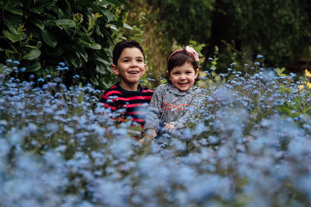 Copy of spring children portrait blue flowers