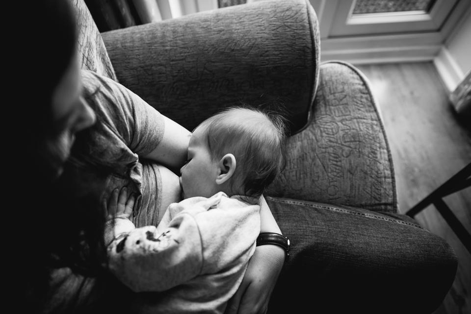 Mum breastfeeding her baby