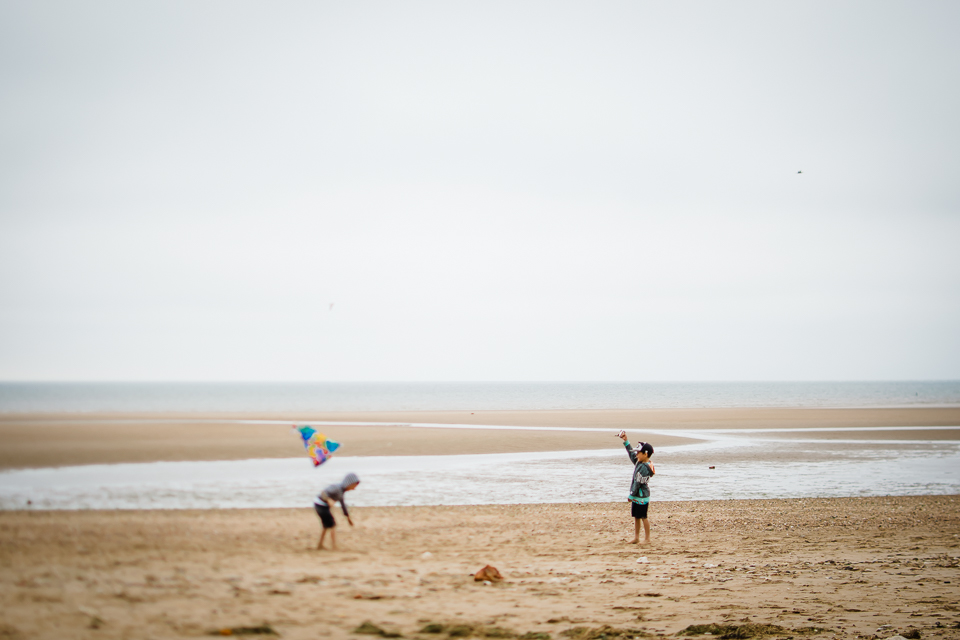 Kite flying at Hunstanton beach