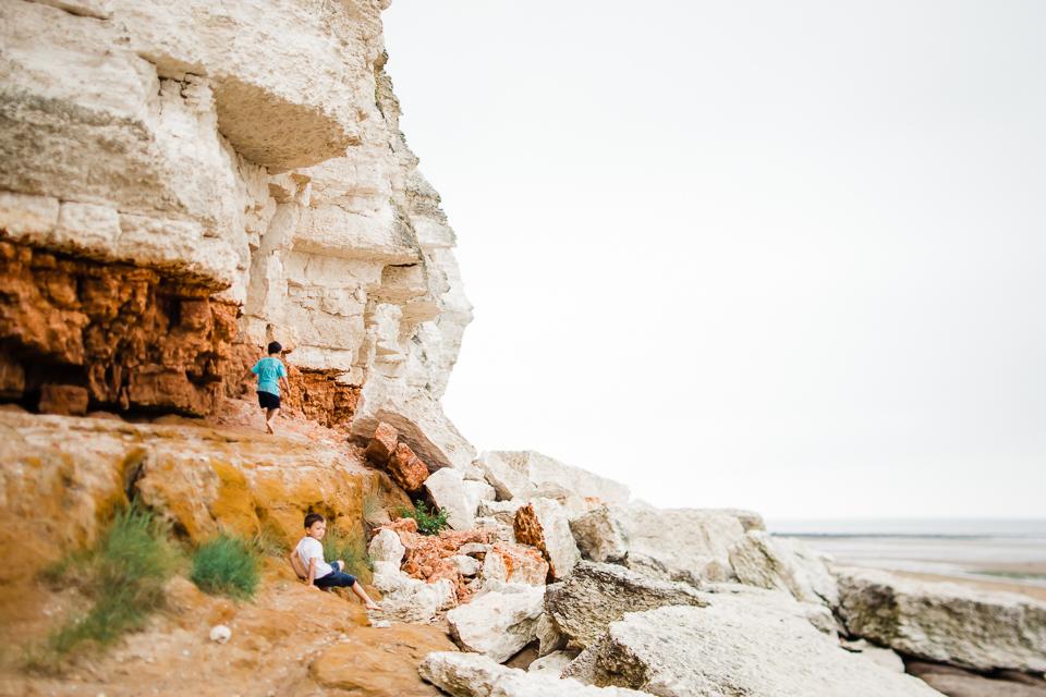 Sandstone cliffs at Old Hunstanton, Norfolk