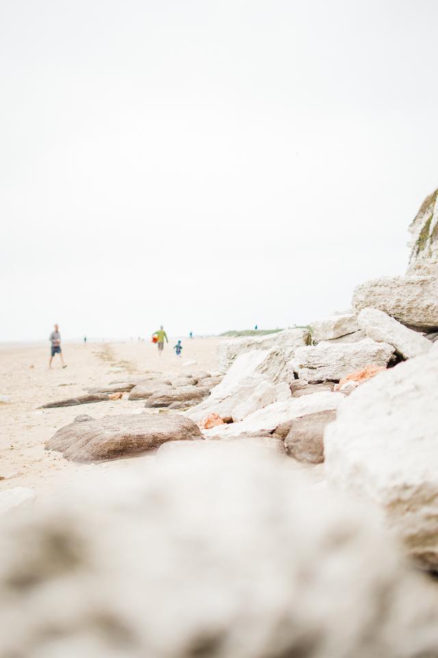 White rocks at Hunstanton beach cliffs