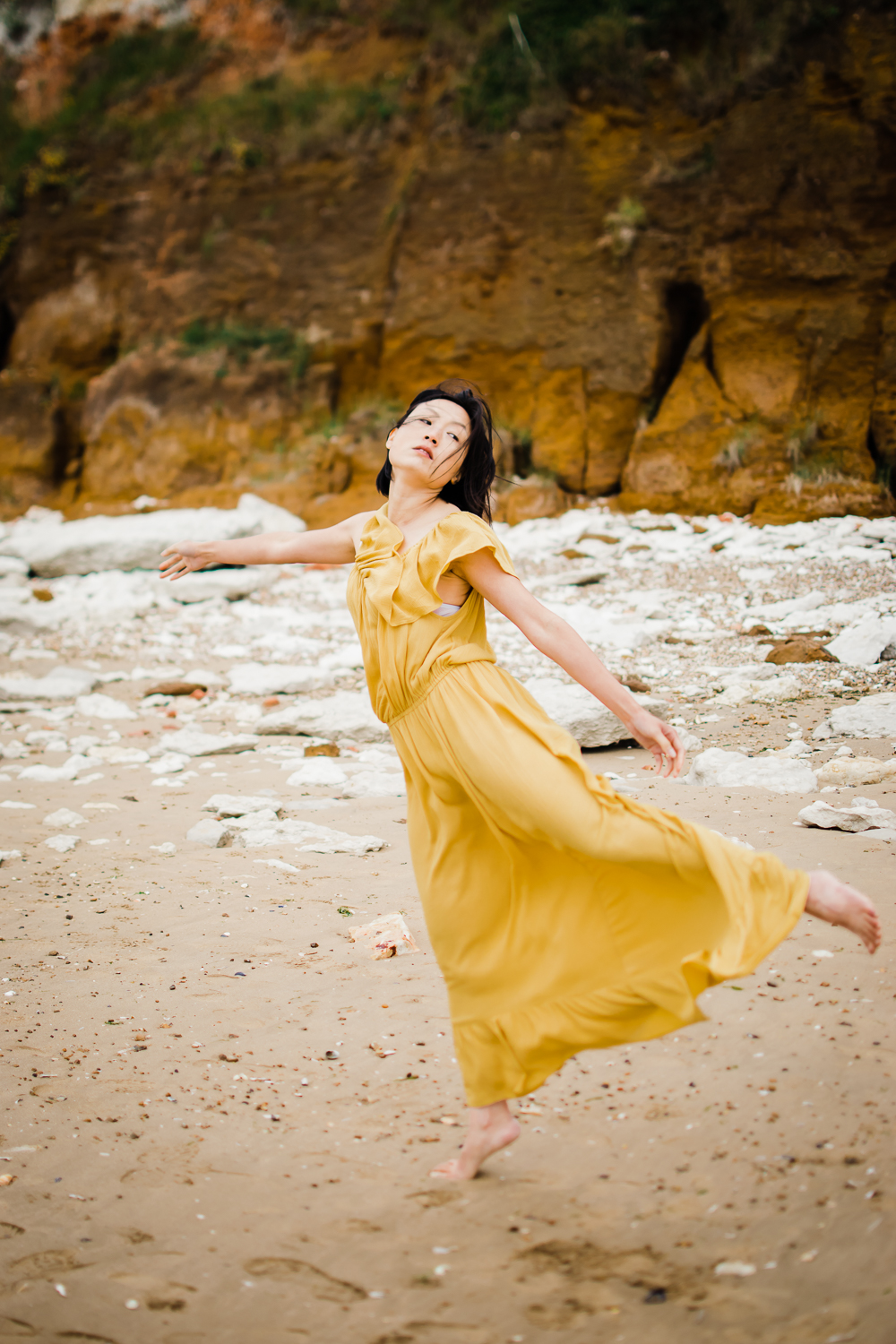 Dancing portrait of Cambridgeshire Photographer Diana Hagues in