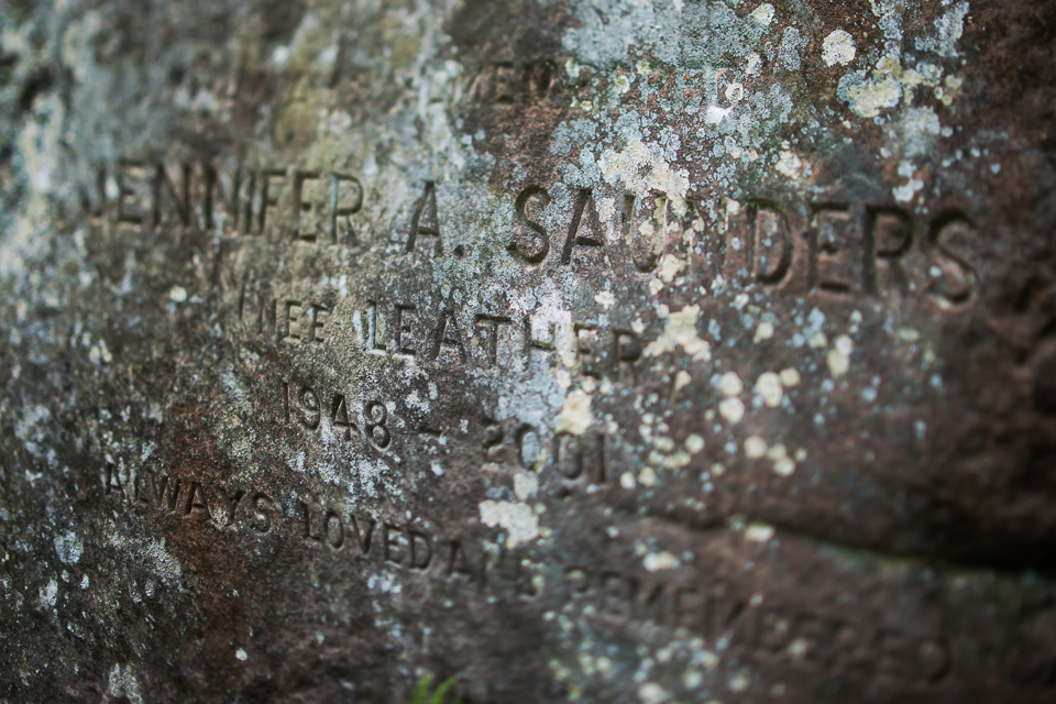 Engravings on a rock at St Cuthbert's Cave