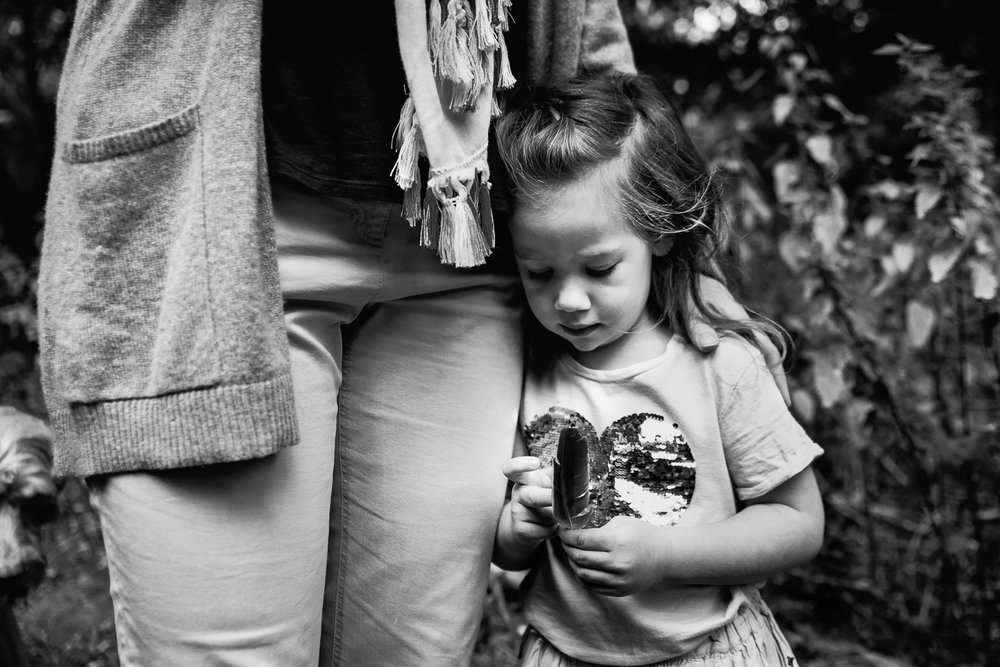 Tender hug from mum black and white photograph