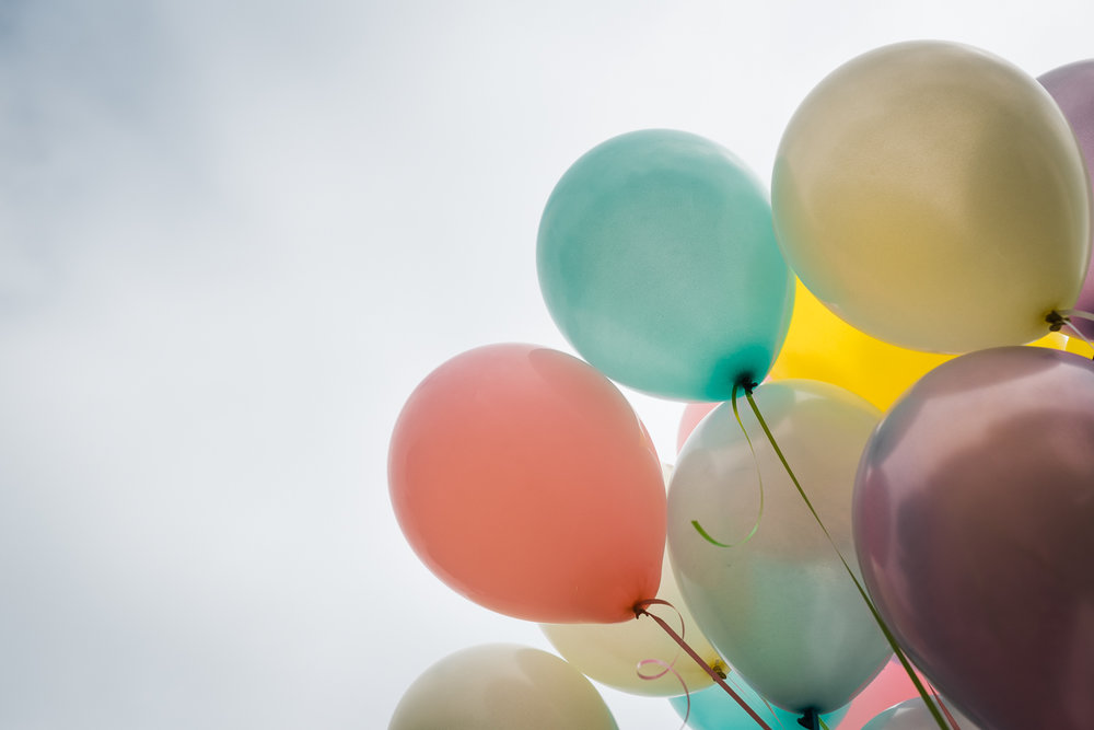Bunch of colourful balloons