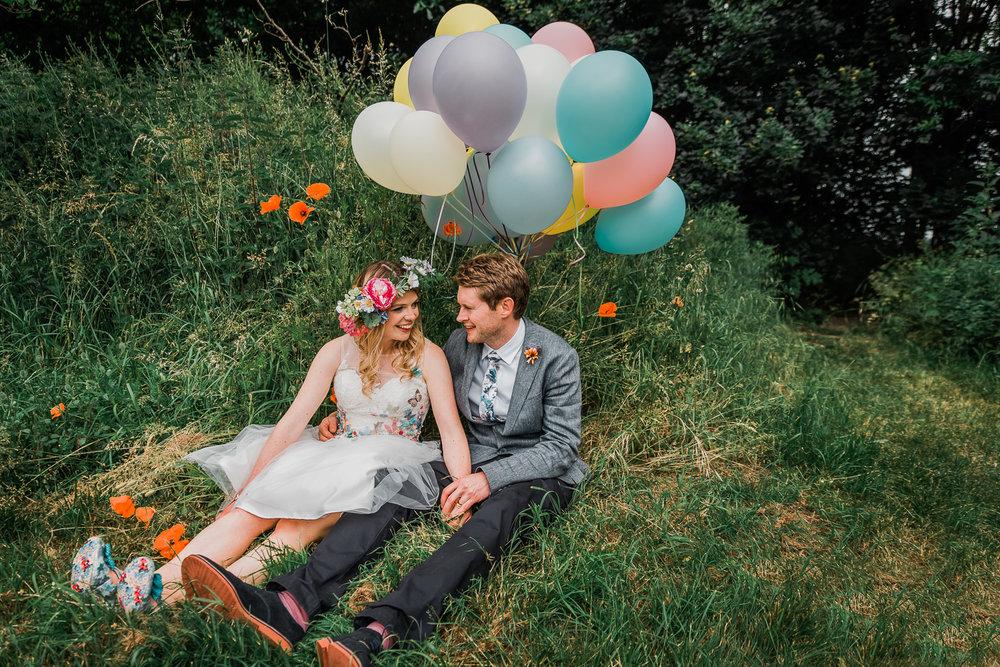 Unposed wedding couple portrait by Diana Hagues Photography, Cam