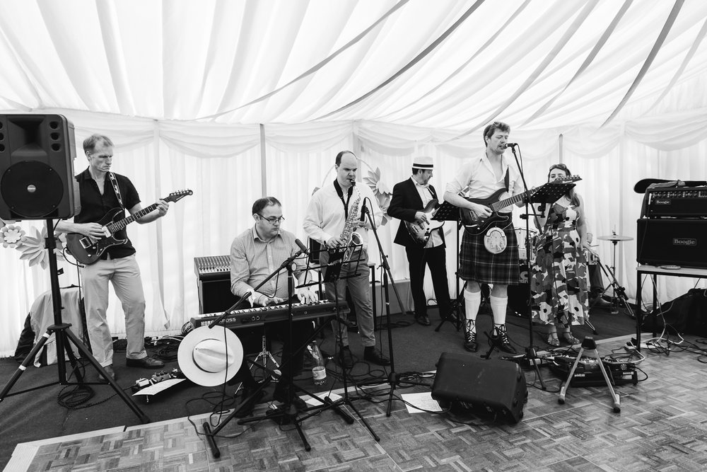 Chords against Humanity plays at a wedding in Horningsea Pavilio