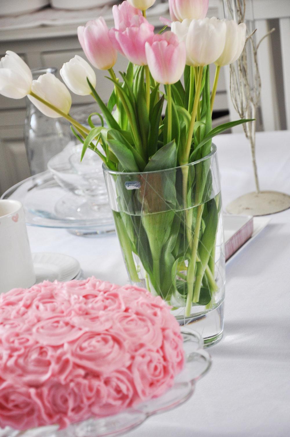 Haymount Homes Rose Flower Buttercream Cake Pink 7.JPG