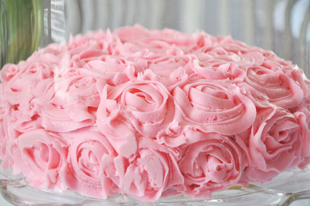Haymount Homes Rose Flower Buttercream Cake Pink.jpg