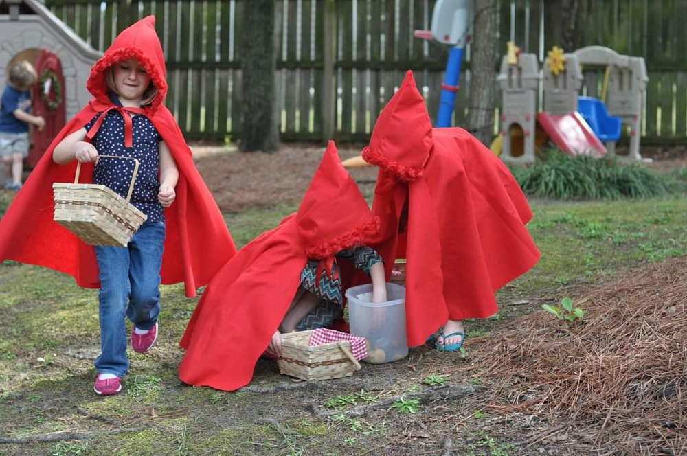 Haymount Homes Little Red Riding Hood Party kids cape costume.jpg