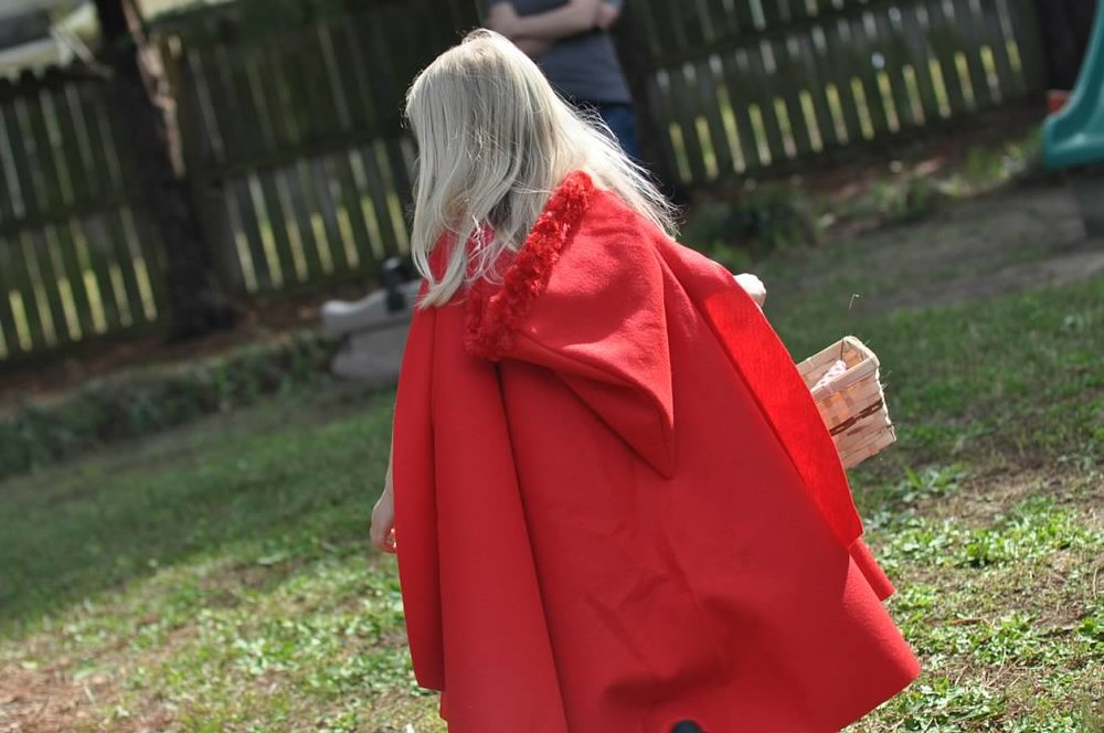 Haymount Homes Little Red Riding Hood Party kids cape.jpg
