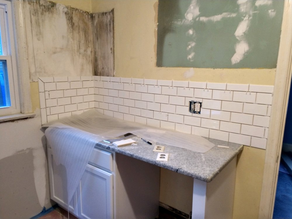 Haymount Homes Glenville Kitchen Renovation Backsplash Subway tile