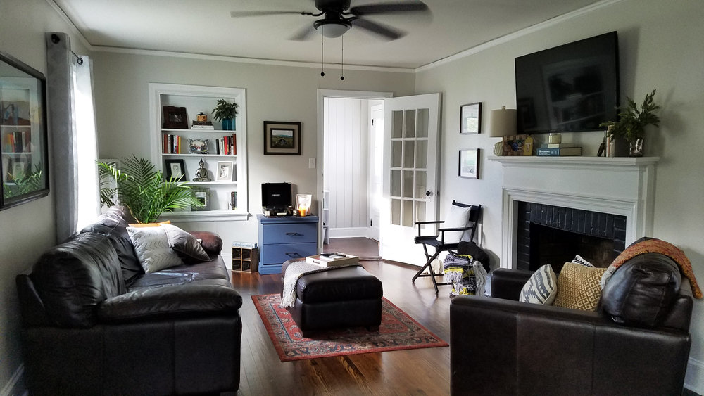 Haymount Homes Historical Fayetteville Glenville Ave Living Room